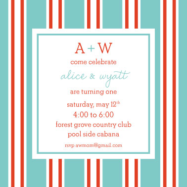 party invitations - Pool Cabana by Natalie E. Wommack