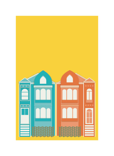 art prints - My Home In San Francisco. by Shannon Losorelli