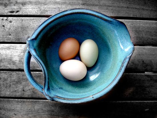 art prints - Three Eggs by Vanessa Wolfe