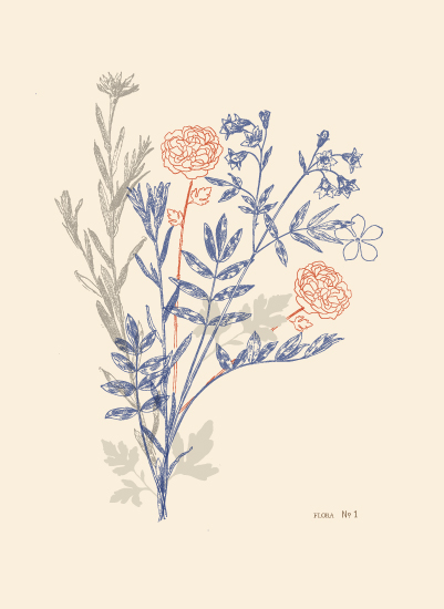 art prints - flora number one by leslie hamer