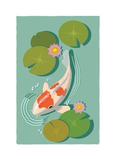 art prints - Koi by TeeEm