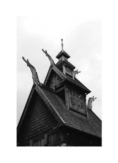 art prints - Norwegian Stave Church by Rachel Wiandt