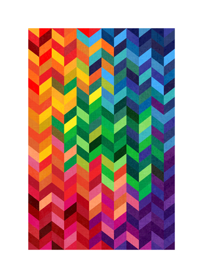 art prints - Rainbow Chevron by Devon J. Carlson