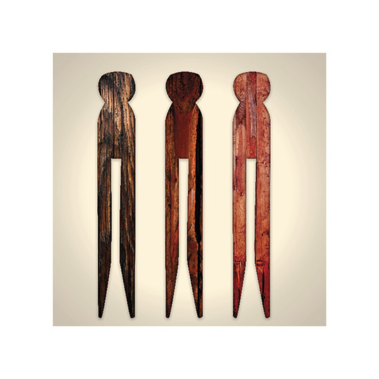 art prints - Wooden Clothes Pins by Kelly Sikkema