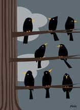 Birds in a tree by Daniel Meola