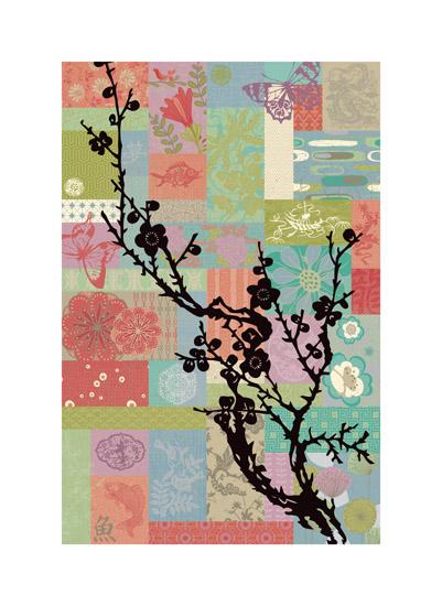 art prints - Asian Garden by Color Continuum