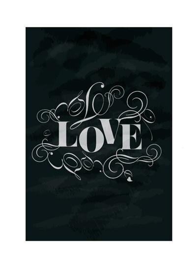 art prints - Chalkboard Love by Trendy Peas