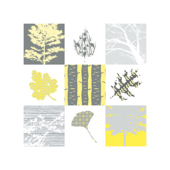 art prints - Trees and Leaves by Color Continuum