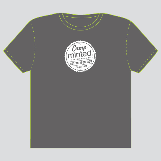 minted t-shirt design - Camp Minted - 2012 by Jill Means