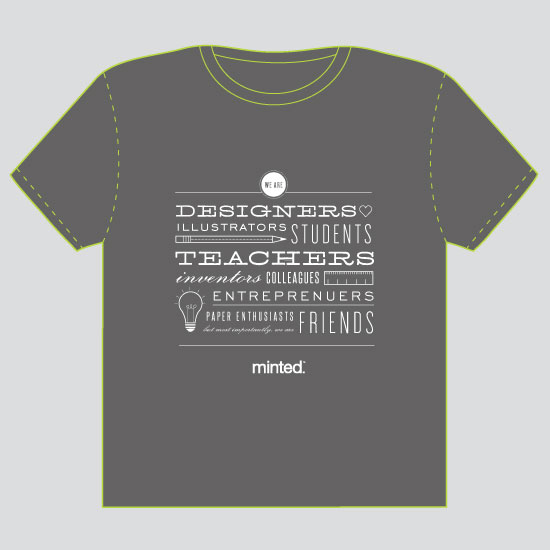minted t-shirt design - We Are Minted - 2012 by Kristen Smith