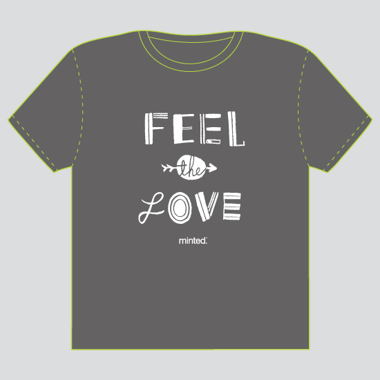 minted t-shirt design - Feel The Love - 2012 by ERAY