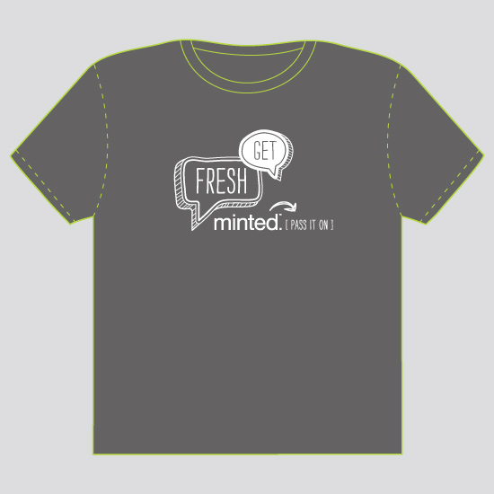 minted t-shirt design - Get Fresh - 2011 by Smudge Design
