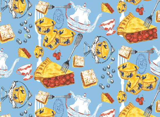 art prints - Tea and Cakes by Jill Nemec