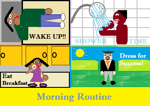 art prints - Morning Routine by Edward Oribhabor