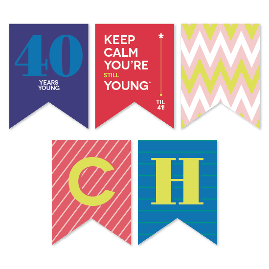 party decor - Young til 41 by Melanie Pavao