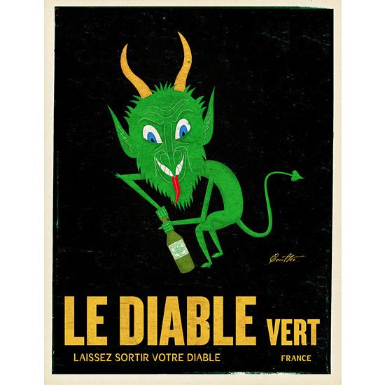 art prints - Le Diable Vert by John Coulter