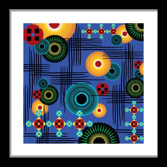 art prints - Big Blue Bold Abstract by Lynnie Daley