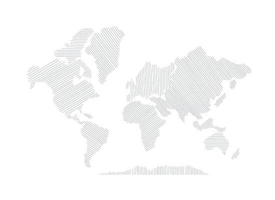 art prints - Modern World Map by Jessie Steury