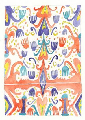 art prints - Uzbek Ikat by NomadicPoetryStudio