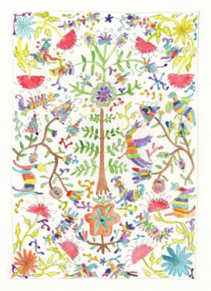 art prints - Otomi Embroidery by NomadicPoetryStudio