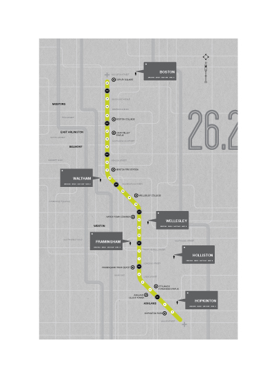 art prints - MILES 2 GO BOS by BLK INK CO.
