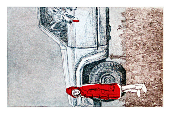 art prints - Girl in Red by Chris Beck