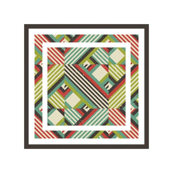 art prints - Heterogeneous Plaid by Color Continuum