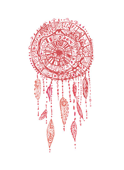 art prints - Lace Dream Catching by Holly Royval