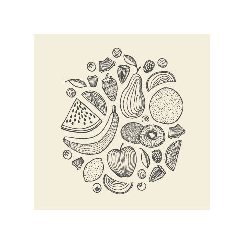 art prints - Fruit Collage by Miranda Lyn