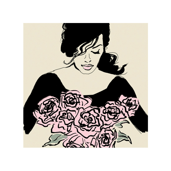 art prints - Smelling Roses by Charis