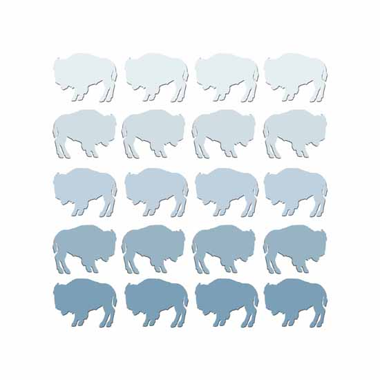 art prints - Wild Buffalos by Jennifer LaBella