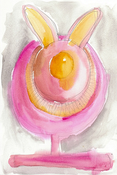 art prints - Sunny Side Up Bunny by Robert-Paul Sagner