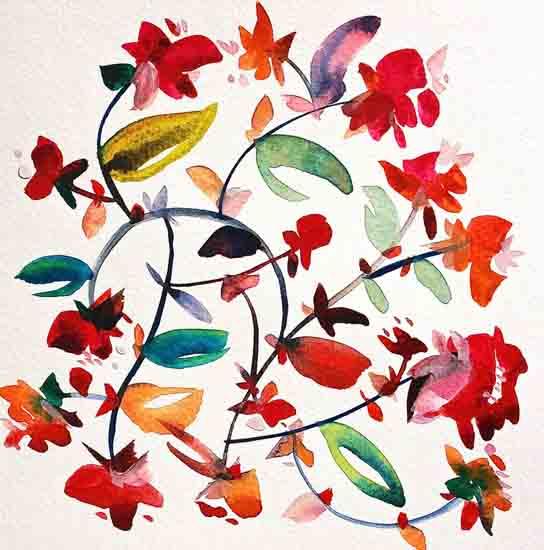 art prints - Bohemian garden no.6 by Kiana Mosley