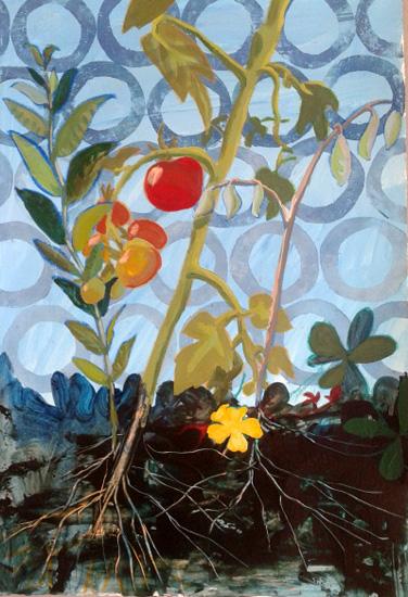 art prints - Coming Down,Tomato by Debra Bianculli