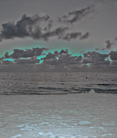 art prints - electric beach by jennifer evangelist