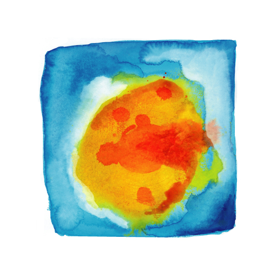 art prints - Sun Abstraction by Paper Dahlia