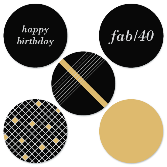 party decor - Fabulous 40 by Ashten Buxton