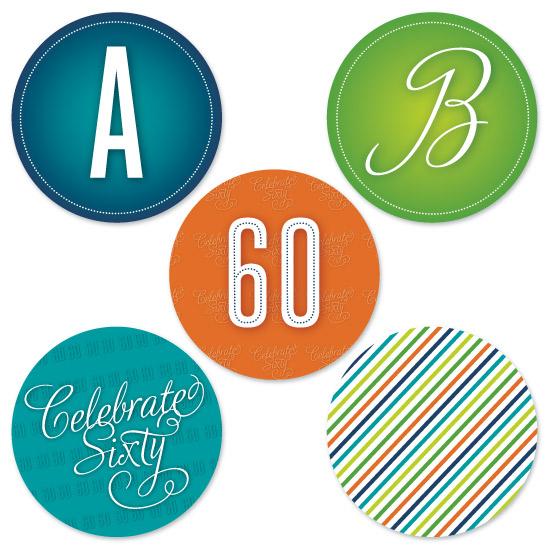 party decor - Celebrate Sixty by Ellie B