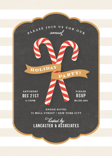 party invitations - Candy Cane Banner by Jill Means