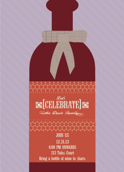 party invitations - Let's Celebrate by Jana J