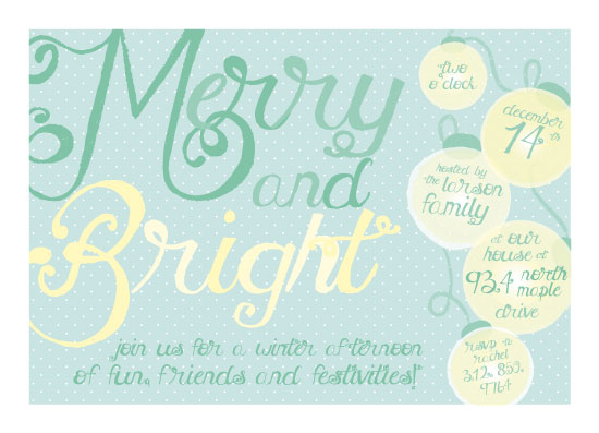 party invitations - Merry and Bright Holiday Fun by Josh Wintersteen