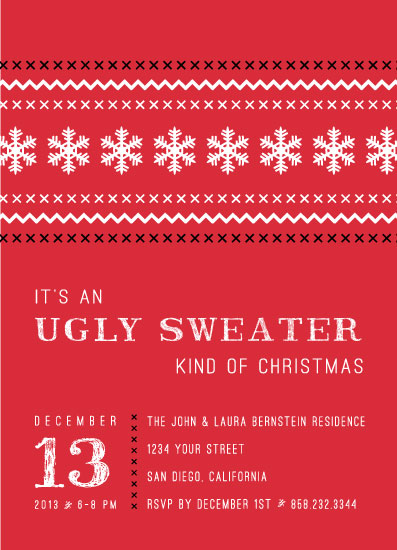 party invitations - An Ugly Sweater Kind of Christmas by Barney Design