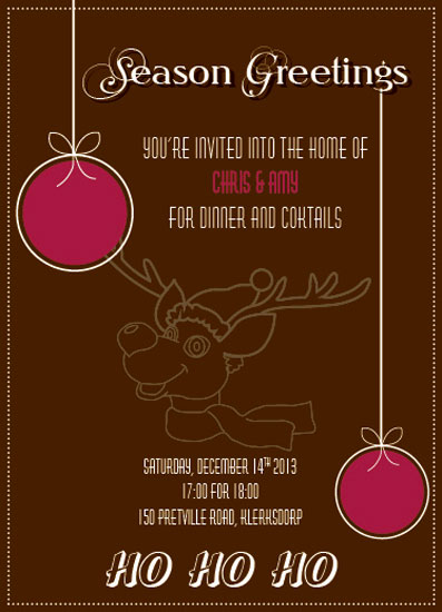 party invitations - Reindeer by Nadia