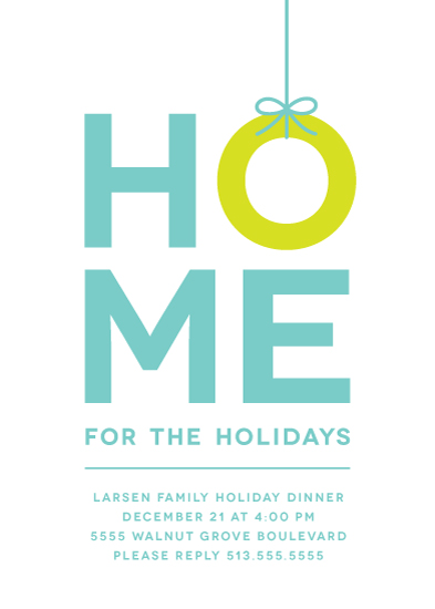 party invitations - Home for the Holidays by Kim Dietrich Elam