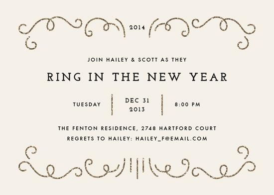 party invitations - Glitzy New Year by Amber Barkley
