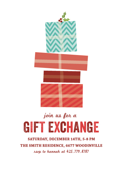party invitations - gift exchange by Anupama
