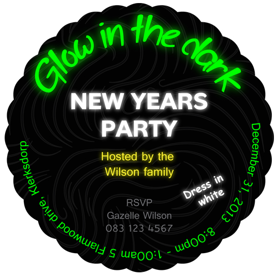 party invitations - Glow in the dark by Gazelle