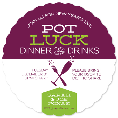 party invitations nye potluck by loree mayer