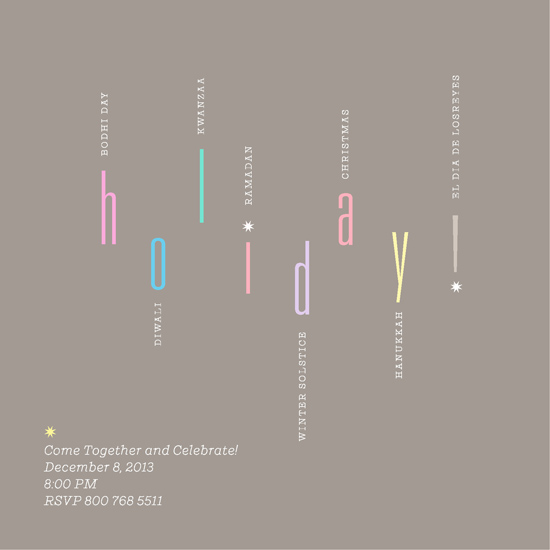 party invitations - holiday-celebrate-all-over-the-world by Steve Jacaruso
