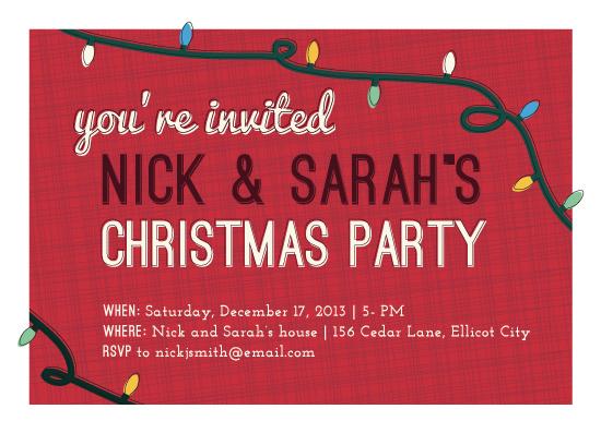 party invitations - Festive Bright Lights by Sarah Hearts